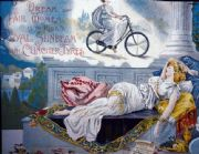 Vintage cycling advertisement poster - Royal sunbeam, clincher tyres